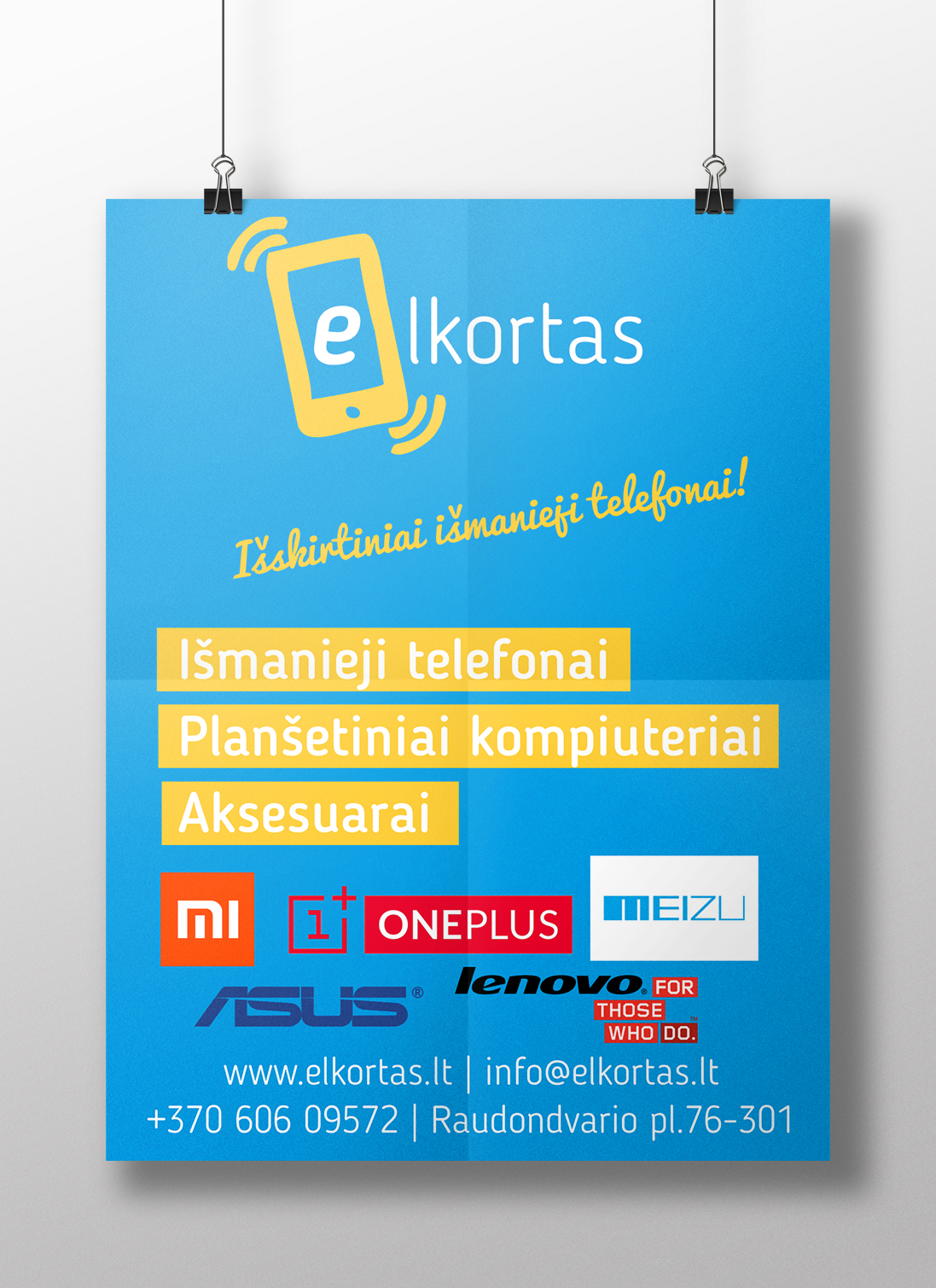 plakatai Plakatai elkortas plakatas
